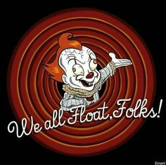 porky pig is now pennywise the dancing clown. Le Clown, Horror Movie Characters, Pennywise The Dancing Clown, Funny Horror, Horror Icons, Arte Horror, Film Serie, Halloween Horror, Scary Movies