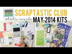 http://youtu.be/DZsixUSGEcc - What's Inside VIDEO: Scraptastic Club MAY 2014 Kits - This Life Noted Kit, Daylight Kits + Stamps