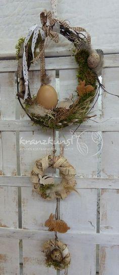NATUR ♥Osterhas...♥ Landhaus Türkranz Fensterdeko von ♥♥ kranzkunst ♥♥ auf DaWanda.com