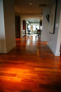 brazilian cherry floors in kitchen hardwood floors are a must! House Design, Paint Colors For Living Room, House Flooring, Cherry Hardwood Flooring, Hardwood Floors, Floor Tile Design, Brazilian Cherry Floors, Flooring, Home Design Decor