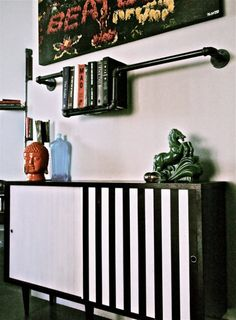 pumbing bookshelflightning4 Plumber bookshelves in metals lights art architecture  with pipe Light Bookshelf
