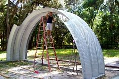 Construction your quonset style building is a lot easier than you think :)