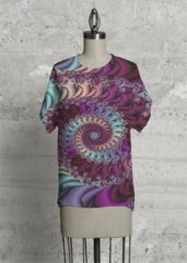 From the Bill M. Tracer Collection at VIDA: Folding Spiral: Applied to the Modern Tee. NOTE: Each piece is uniquely designed and custom-printed, and may vary slightly upon receipt.