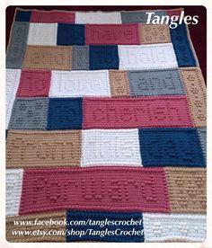 Wedding wordghan. Crocheted by Tangles.  *Pattern by Jody Pyott.
