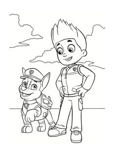 paw patrol ryder and chase coloring pages printable and coloring book to print for free. Find more coloring pages online for kids and adults of paw patrol ryder and chase coloring pages to print. Nick Jr Coloring Pages, Star Coloring Pages, Paw Patrol Coloring Pages, Free Coloring Sheets, Cartoon Coloring Pages, Christmas Coloring Pages, Coloring Pages To Print, Printable Coloring Pages, Coloring For Kids