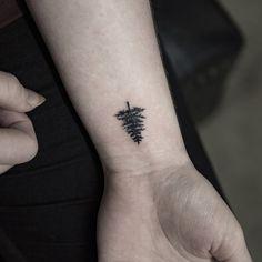 This cute conifer tree tattoo men, tiny tree tattoo, tree tattoo designs, sleeve Tiny Tree Tattoo, Tree Tattoo Men, Tiny Rose Tattoos, Cool Small Tattoos, Small Tattoos For Guys, Trendy Tattoos, Wrist Tattoos For Guys, Small Wrist Tattoos, Mens Wrist Tattoos