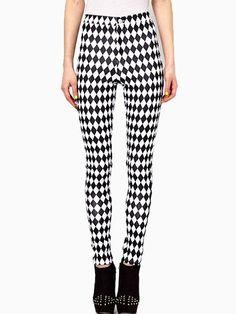 Spodnie w szachownicę - Pants In Diamond Print