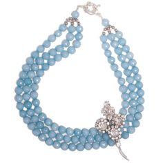 """True blue elegance"" blue statement necklace #beads"