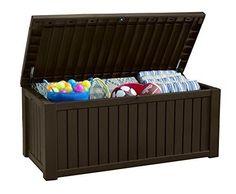 Outdoor Deck Box Storage Patio 150 Gallon Bench Garden Seat Pool Furniture Yard #Keter