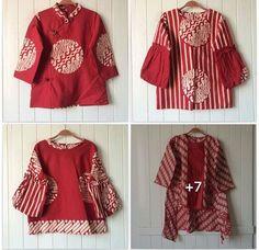 Red Batik Kebaya, Batik Dress, Blouse Batik Modern, Batik Muslim, Batik Blazer, Model Kebaya Modern, Traditional Fabric, Thai Traditional Dress, Model Baju Batik