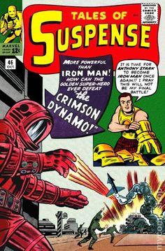Tales of Suspense Iron Man vs the Crimson Dynamo Marvel Comics Superheroes, Marvel Comic Books, Crimson Dynamo, Anthony Stark, Comic Book Villains, Tales Of Suspense, Horror Comics, Jack Kirby, Silver Age