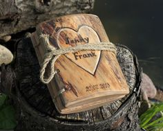 Coptic stich rustic wood journal 5 1/2 x 4 Tree of by crearting