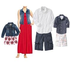 summer family photo 2014 - what to wear for less from oldnavy.com