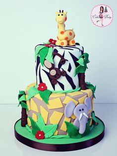 Jungle Baby Shower  Cake by cakesbydusty
