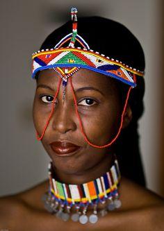 Kenya~ She is so beautiful! African Beauty, African Women, African Art, African Tribes, Black Girl Art, Black Women Art, Black Girl Magic, Africa Fashion, Tribal Fashion