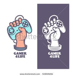 stock-vector-gamer-for-life-t-shirt-design-oldschool-videogames-related-poster-hand-with-joystick-vector-519029284.jpg (450×470)