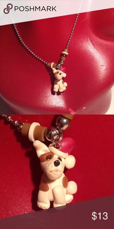 Christmas dog necklace Very good condition. It is perfect Christmas present for someone! Dog Christmas Presents, Christmas Dog, Dog Necklace, Pearl Necklace, Be Perfect, Jewelry Accessories, Kids Shop, Pearls, Dogs