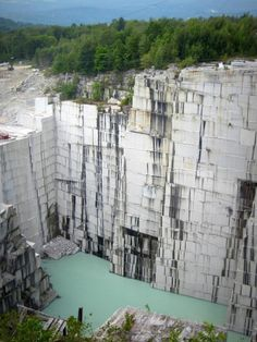 This stunning view at the Rock of Ages granite quarry (Graniteville, VT) took our breath away! Founded in 1885 in Vermont, Rock of Ages owns and manages quarries in several states and countries. These quarries produce the highest combined volume of dimensional granite in North America. This amazing location (nearly 600′ deep!) immediately reminded us of a movie set. And as it turns out, a scene from the 2009 Star Trek movie was in fact filmed here!