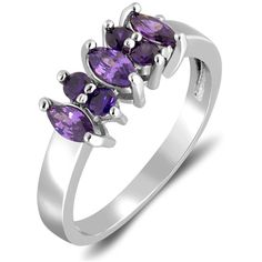3.00 CTTW Cubic Zirconia Amethyst Ring By Lauren James Brass Other (29 BRL) ❤ liked on Polyvore featuring jewelry, rings, jewelry & watches, purple, amethyst rings, brass ring, purple amethyst ring, amethyst stone ring and amethyst jewellery