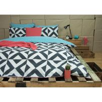 Ardor Nyallo Charcoal Double Quilt Cover Set