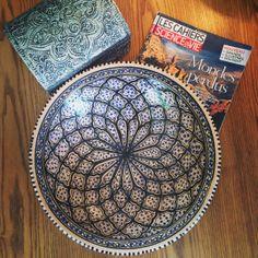 Deep Blue, Decorative Plates, Clay, Beads, Wood, Summer, Home Decor, Pintura, Art