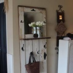 Great creative idea to re-use your old fashion wood panel door! Who knew there were so many creative uses for old, recycled doors?! Up-cycling doors as Décor...Yah or Nah?