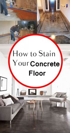 How to Stain Your Concrete Floor- tips and tricks for staining concrete. How to stain your concrete floors and other great tutorials. simple home diy How to Stain Your Concrete Floor