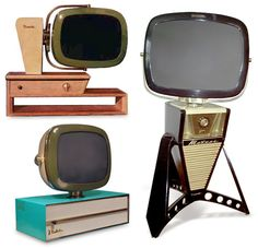 The revamped Predictas are lovingly built using modern plastics and electronics, using the original designs as inspiration. These aren't restored old TVs – they're brand new, and made from pristine parts. Radios, Vintage Television, Television Set, Mid Century Decor, Mid Century Design, Vintage Tv, Vintage Antiques, Hifi Video, Tvs