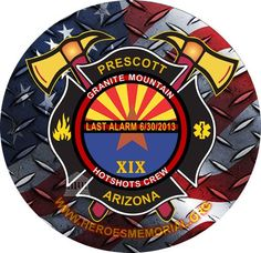 The memorial service will be held at 11 a.m. Tuesday, July 9,2013 at Tim's Toyota Center in Prescott Valley, the Prescott Fire Department said.