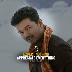 Movie Love Quotes, All Quotes, Motivational Quotes For Life, Inspiring Quotes About Life, Life Quotes, Inspirational Quotes, Ilayathalapathy Vijay, Filmy Quotes, Self Respect Quotes