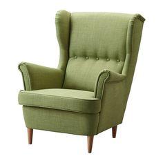 IKEA - STRANDMON, Ohrensessel, Skiftebo grün,