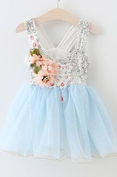 Dazzling Garden Blue Dress Preorder Baby Blue Dresses, Girls Blue Dress, Girls Party Dress, Birthday Dresses, Little Girl Dresses, Baby Dress, Girls Dresses, Flower Girl Dresses, Prom Dress