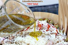 Columbia Restaurant's Salad – Can't Stay Out of the Kitchen Hcg Recipes, Candy Recipes, Salad Recipes, Cooking Recipes, Healthy Recipes, Healthy Food, Healthy Eating, Yummy Food, 1905 Salad Recipe