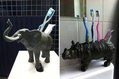 Plastic Animal Toothbrush Holder | Organization Hacks That Can Keep Anyone (Even You DIYers) Organized