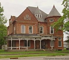 Old house with turret in Connersville Indiana