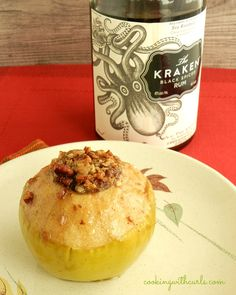 Spiced rum baked apples