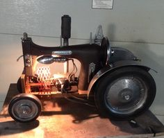 Tractor made with sawing machine and odds and ends