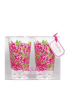 7f0b2b5b4d960b Lilly Pulitzer® Acrylic Set of 2 Tumblers Lucky Charms Green #belk.com #home