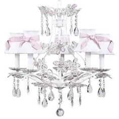 Jubilee Collection Cinderella Chandelier with Optional Shade and Sash