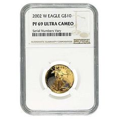 2002-W 1/4 oz $10 Gold American Eagle Proof Coin NGC PF 69