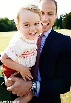 F.G. Saraiva: Família real divulga foto do príncipe George na vé...