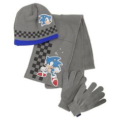 Girls Hello Kitty Black Winter Hat Gloves 2 Piece Set Age 4-8 Years
