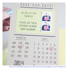 Adore these save the dates!