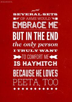 Because he loves Peeta too.