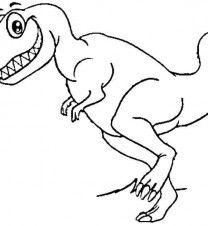 1 animal dinosaurs tyrannosaurus rex coloring pages printable - Tyrannosaurus Rex Coloring Pages
