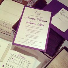 Elegant flat card invitation with back pocket Invitation Cards, Wedding Invitations, St Clare's, Wedding Cakes, Cocktails, Marriage, Pocket, Flat, Elegant