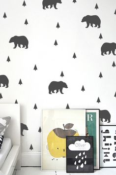 Stickaroo - grizzly tree pattern