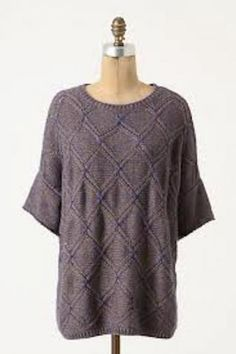 Diamond Weave Pullover by Moth