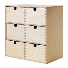 Ikea Moppe - Mini-cassettiera, 31 x 18 x 32 cm, colore: betulla  ZELLER