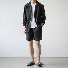 Korean Summer Outfits, Tetsu, Japan Outfit, Korean Fashion Men, Japan Fashion, Minimal Fashion, Trendy Outfits, Men Casual, Menswear